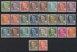 Danimarca 1948/53 Unif. 315/31C **/MNH VF - 1913-47 (Christian X)