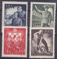 Croatie Série De 4 Timbres N° 162A, 163A, 164A, 165A Année 1944 Neuf - Croatia