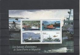 Saint Pierre Et Miquelon Yvert  Bloc 17 ** Bateaux - Blocks & Sheetlets