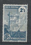 FRANCE - 1944-45 - Colis Postaux - Y.T. N°218A - 2 F. 5 Bleu - Remboursement - Avec Filigrane A - Neuf* - TTB - Colis Postaux