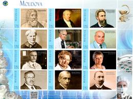Moldova 2018, Medicine, Health, Physicians, Famous Medical Scientists, Sheetlet Of 12v - Moldova