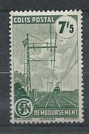 FRANCE - 1944-45 - Colis Postaux - Y.T. N°219A - 7 F. 5 Vert - Remboursement - Avec Filigrane A - Neuf* - TTB - Mint/Hinged