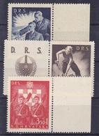 Croatie Série De 3 Timbres N° 162B, 163B, 164B Bord De Feuille 1944 Neuf - Croatia