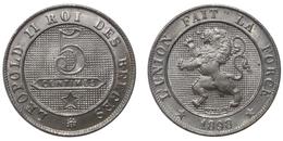 5 Centimes 1898 (Belgium) - 1865-1909: Leopold II