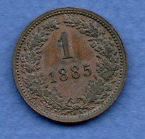 Autriche  -  1 Kreuzer 1885  --  Km # 2187 --  état  SUP - Austria