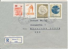 Yugoslavia Registered Cover Sent To Germany Maribor 12-9-1966 - 1945-1992 République Fédérative Populaire De Yougoslavie