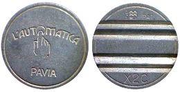 01007 GETTONE TOKEN JETON DISPENSER MACHINE MAGGI CONIATURE L'AUTOMATICA PAVIA - Italy