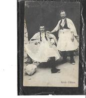Europe-Albanie-Ricordo D'Albania-Une Vue De 2 Hommes En Costume Du Pays (Jupe) - Albania