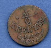 Autriche -  1/2  Kreuzer 1816 A   - Km # 2110 -  état  TB+ - Austria