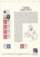 Document 1er Jour , CERES 1849-1999 , 01.01.1999 , N° YT 3213 - 1990-1999