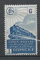 FRANCE - 1945 - Colis Postaux - Y.T. N°222B - 7 F. 2 Bleu - Livraison à Domicile - Sans Filigrane - Neuf* - TTB - Colis Postaux