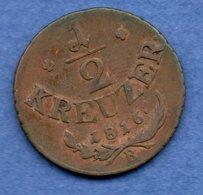 Autriche -  1/2  Kreuzer 1816 B   - Km # 2110 -  état  TB+ - Autriche