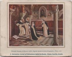San Domenico Riceve La Professione Delle Tre Beate Diana, Cecilia, Amata. Santino - Santini