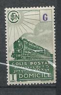 FRANCE - 1945 - Colis Postaux - Y.T. N°223B - 7 F. 8 Vert Foncé - Livraison à Domicile - Sans Filigrane - Neuf* - TTB - Colis Postaux