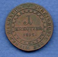 Autriche -  1  Kreuzer 1812 B   - Km # 2112 -  état  TB+ - Austria