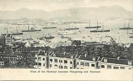 Pays Div -ref T348- Chine - China - Hong Kong - View Of The Harbour Between Hongkong And Kowloon  - - China (Hong Kong)