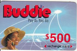 ZIMBABWE - Girl On Phone, Buddie Recharge Card $500(thick), Exp.date 01/01/00, Used - Zimbabwe
