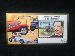 St Vincent 100 Years Of Automobiles $3 S/S Mint - St.Vincent (1979-...)