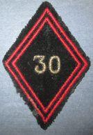 Losange De Bras 30° Bataillon Mixte D'Entretien Et Entrepôt Du Génie - Armée De Terre