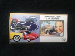 St Vincent 100 Years Of Automobiles $8 S/S Mint - St.Vincent (1979-...)