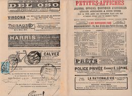 FRANCE PETITES AFFICHES   J.O. AVEC TIMBRE FISCAL DIMENSION - 1900 – 1949