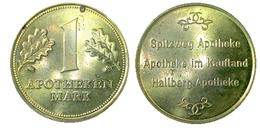 02536 GETTONE TOKEN JETON VENDING APOTHEKEN 1 MARK - Germany