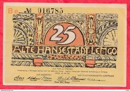 Allemagne 1 Notgeld De 25 Pfenning Stadt Lemgo UNC  N °3858 - Collections