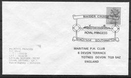 1984 GB Southampton Maiden Cruise Ship Cover. Royal Princess. - 1952-.... (Elizabeth II)