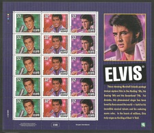 MARSHALL ISLANDS 1997 POP ROCK MUSIC ELVIS PRESLEY 20TH DEATH ANNIVERSARY SHEETLET MNH - Laos