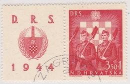 Croatie Timbre N° 162A, Année 1944 Oblitéré - Croatia