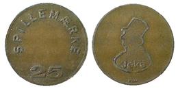 03820 GETTONE TOKEN JETON DENAMRK GAMING SPILLAEMARKE 25 JEKA - Unclassified
