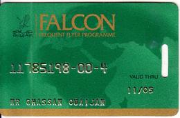 BAHRAIN - Gulf Air Member Card, Exp.date 11/05, Used - Airplanes