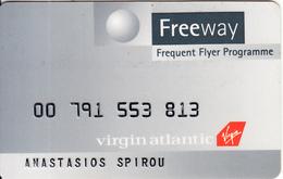 UK - Virgin Atlantic Magnetic Member Card, Used - Airplanes