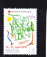 Croatie Timbre Croix Rouge (Hrvatski Crveni Kriz), Année 2015 Neuf - Croatia
