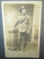 Carte Photo Originale Soldat Australien WW1 - Documents