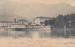 COLICO-LECCO-LAGO DI COMO-IMBARCADERO=LARIANO= CARTOLINA VIAGGIATA  1902-1904 - Lecco