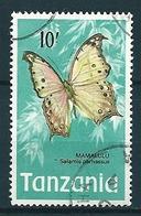Tansania 1973  Schmetterlinge  10 Sh  Mi-Nr. 48 Gestempelt / Used - Tanzania (1964-...)