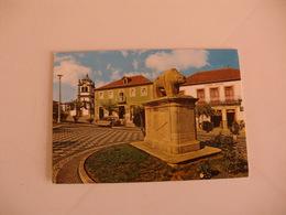 Postcard Postal Portugal Murça Jardim E Estátua Simbólica Da Porca De Murça - Vila Real
