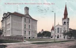 300944Winnipeg, St. Mary's School And St Mary's Catholic Church 1908 - Winnipeg