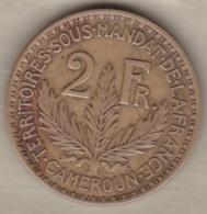Territoire Sous Mandat De La France. Cameroun. 2 Francs 1924. KM# 3, Lec# 10 - Cameroun