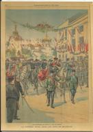 CP Illustrée, Le Petit Parisien 1904, Belgrade, Cortège Royal, Couronnement Roi De Serbie, Old Newspaper France - Serbia