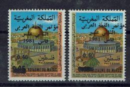 Maroc- 1981 - Sommet Arabe à Fès - N° 900 Et 901 Surchargés - Neufs - XX - MNH - TB - - Morocco (1956-...)