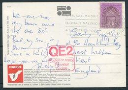 "Spain Tenerife Postcard ""QE2"" Ship Posted On Board Preview Cruise - 1931-Hoy: 2ª República - ... Juan Carlos I"