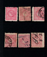 BRAZIL 1893 100c RED X 6 STAMPS SHADES & PERF VARIETIES - Brésil