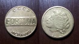 USSR - SPAIN Casino FORTUNA TOKEN FISH FICHES CHIPS JETON Metal Ø22,00mm - Casino