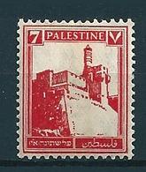 Palästina 1927/41  7M Rot  Mi-Nr. 58  Falz /* MH - Palestine