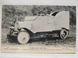 Automobile Blindée, Canon Krupp - Matériel