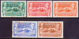 BARBADOS 1939 SG #257-61 Compl.set Used Tercentenary Of General Assembly - Barbades (...-1966)