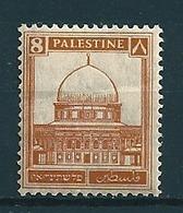 Palästina 1927/41  8M Braun  Mi-Nr. 60  Falz /* MH - Palestine