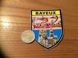 AUTOCOLLANT, Sticker «BAYEUX (14)» (blason, Drakkars, Cathédrale) - Adesivi